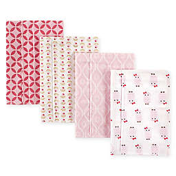 Hudson Baby® 4-Pack Flannel Burp Cloths