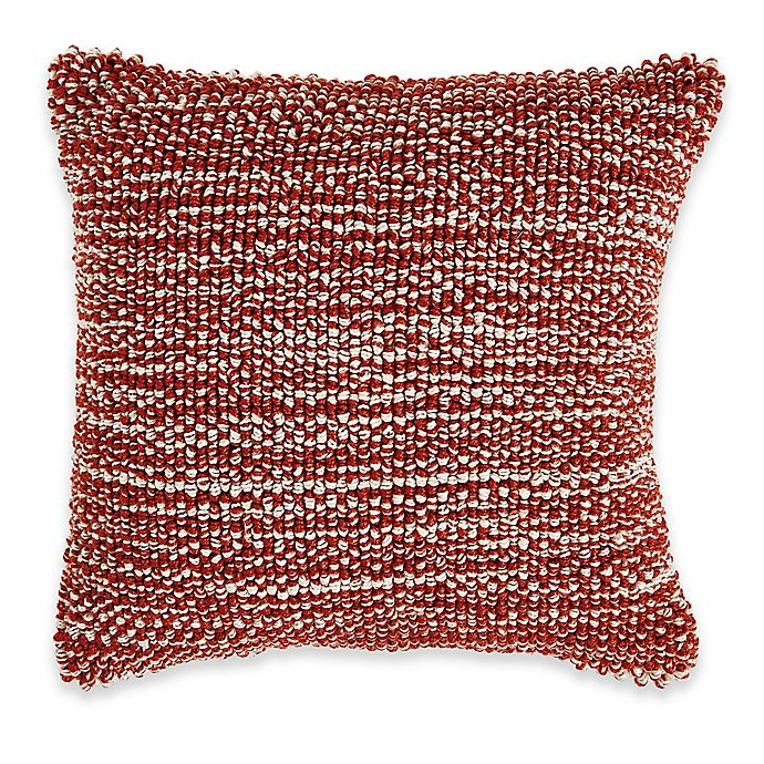 Alternate image 1 for Textured Baubles Pillow in Red
