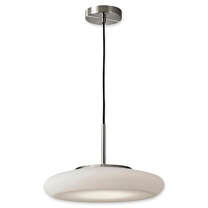 Alternate image 1 for Adesso® Hubble LED Pendant Light in Brushed Steel