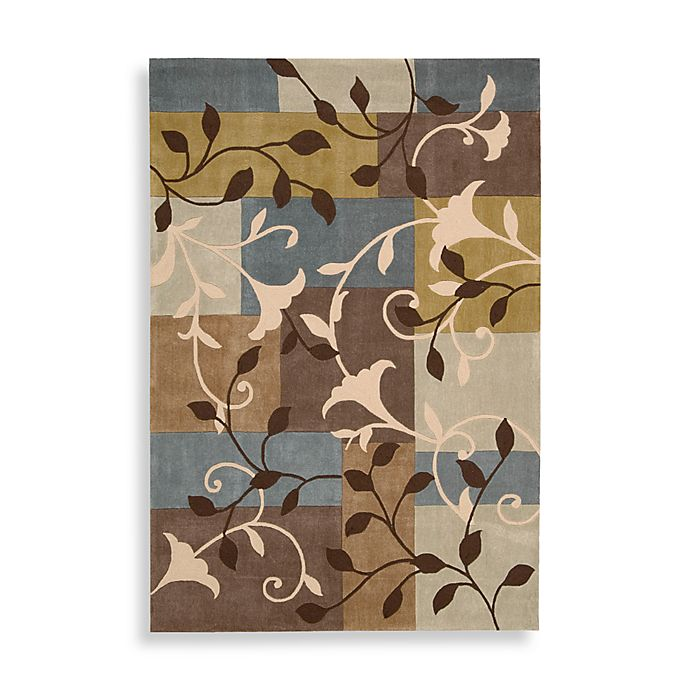 Alternate image 1 for Nourison Contours Multicolor Trumpet Flower Rug