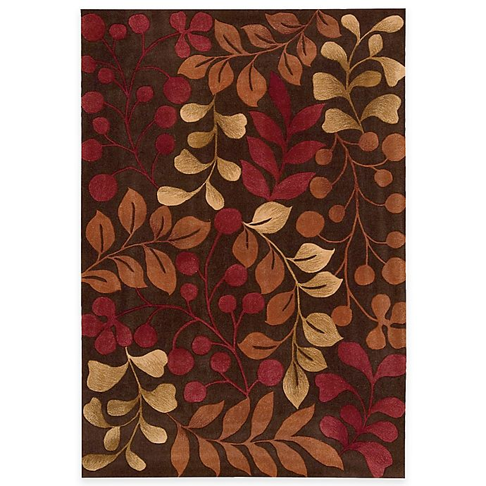 Alternate image 1 for Nourison Contours Botanical Rug in Chocolate