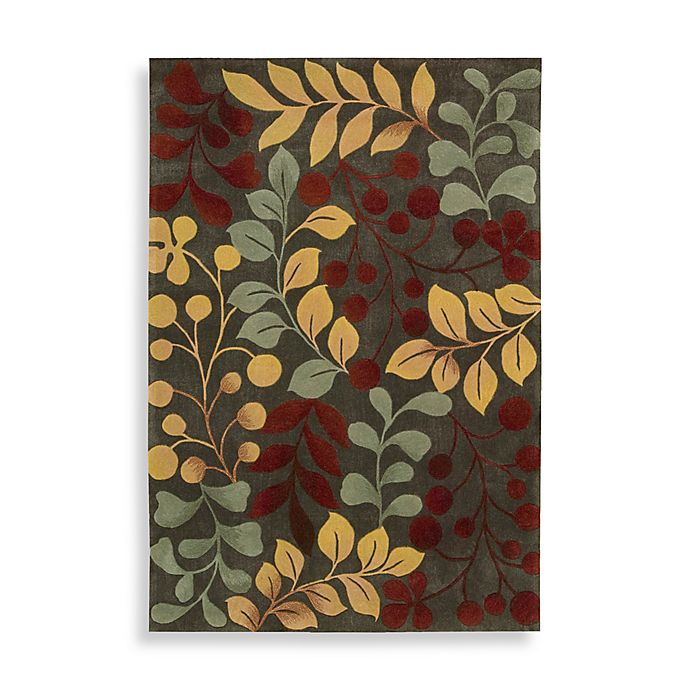Alternate image 1 for Nourison Contours Frost Botanical Rug