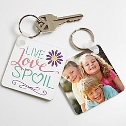 """Live, Love"" Spoil"" Photo Keychain"