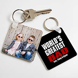 Best. Dad. Ever. Photo Keychain