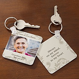 In Loving Memory Photo Keychain