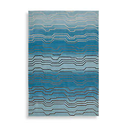 Nourison Contour Hand Tufted Area Rug in Azure