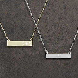 Initials Nameplate Necklace