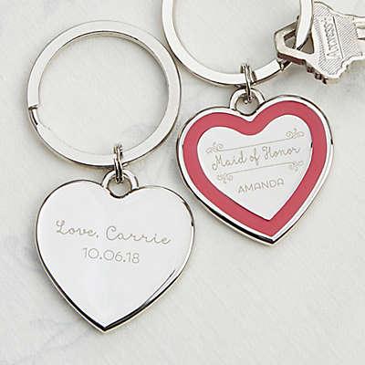 Bridesmaid Heart Keychain
