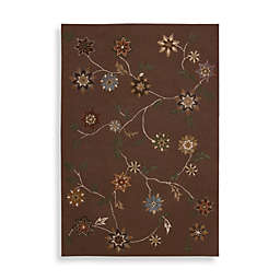 Nourison Contours Vine Rug in Brown