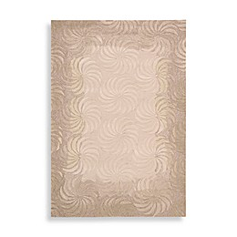 Nourison Contours Pinwheel Rug in Taupe