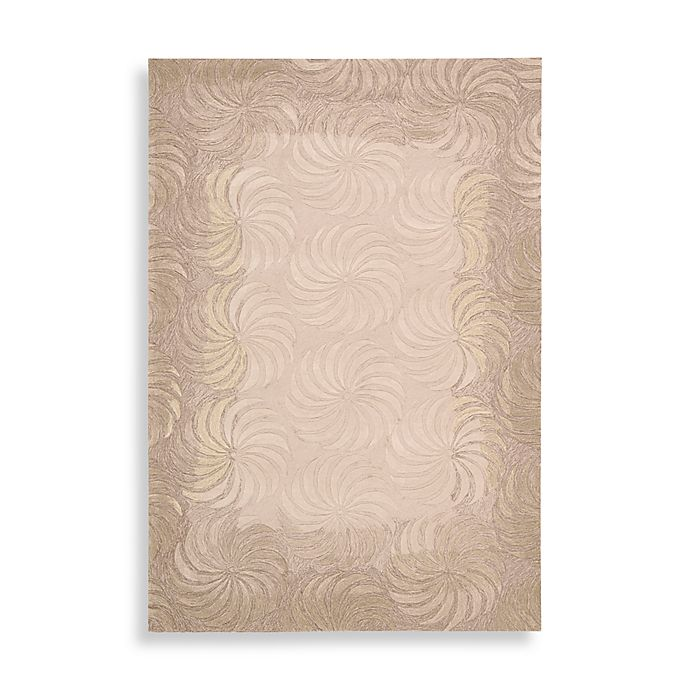 Alternate image 1 for Nourison Contours Pinwheel Rug in Taupe