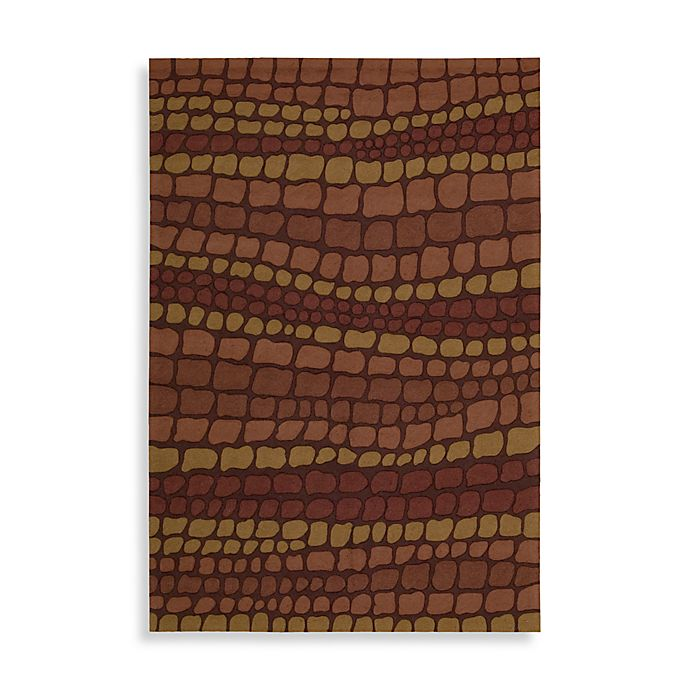 Alternate image 1 for Nourison Fantasy Hand Hooked Rug in Brick