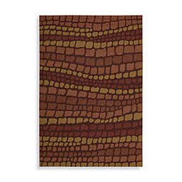 Nourison Fantasy Hand Hooked Rug in Brick