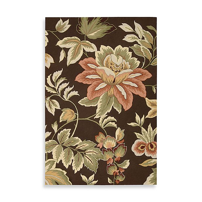 Alternate image 1 for Nourison Fantasy Hand Hooked Rug in Chocolate