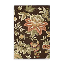 Nourison Fantasy Hand Hooked Rug in Chocolate