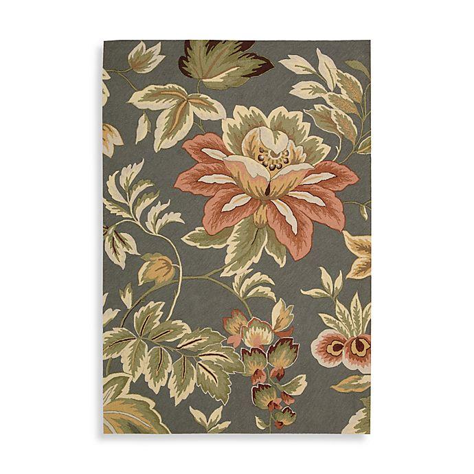 Alternate image 1 for Nourison Fantasy Floral Hand Hooked 5' x 7'6 Area Rug in Grey