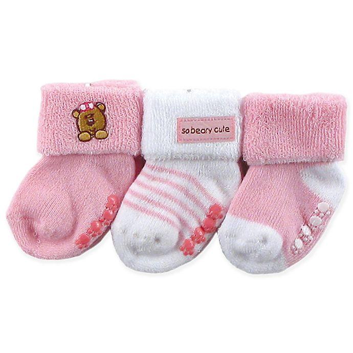 53903073a Luvable Friends® 3-Pack Beary Cute Socks