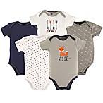 Hudson Baby® Size 12-18M 5-Pack Wild One Bodysuits