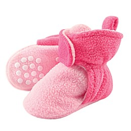 Luvable Friends® Scooties Fleece Booties in Baby Pink