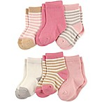Touched by Nature Size 6-12M 6-Pack Girls Organic Cotton Socks in Pink
