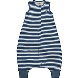 Woolino Striped Wearable Blanket in Navy