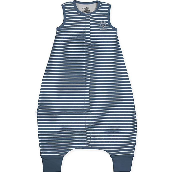 Alternate image 1 for Woolino Striped Wearable Blanket in Navy