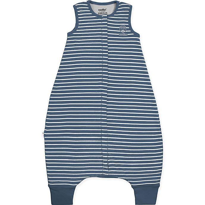 Alternate image 1 for Woolino Striped Wearable Blanket in Navy
