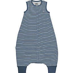 Woolino Striped Wearable Blanket in Navy