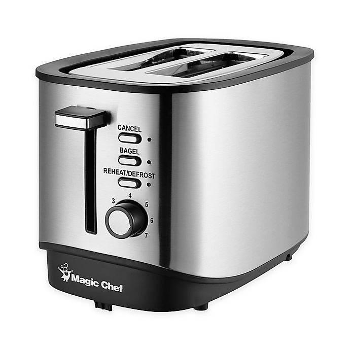 Alternate image 1 for Magic Chef® Stainless Steel 2-Slice Toaster