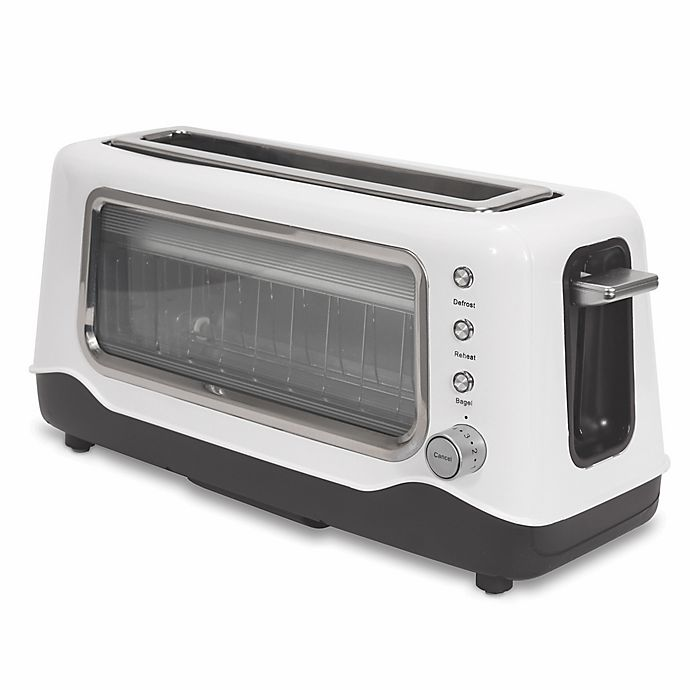 Alternate image 1 for Dash™ Clear View 2-Slice Toaster in White