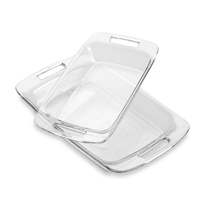 Alternate image 1 for Pyrex® Advantage 2-Piece Oblong Baking Dish Set