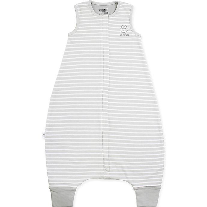 Alternate image 1 for Woolino® 4 Season Size 3-4T Striped Toddler Sleep Bag in Grey