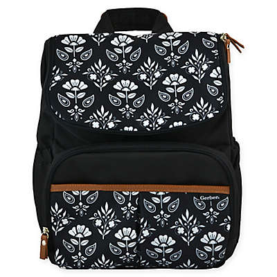 Gerber® Floral Geo Print Backpack Diaper Bag