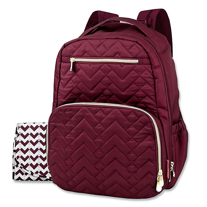 Alternate image 1 for Fisher-Price® Quilted Backpack Diaper Bag