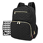 Fisher-Price® Quilted Backpack Diaper Bag in Black