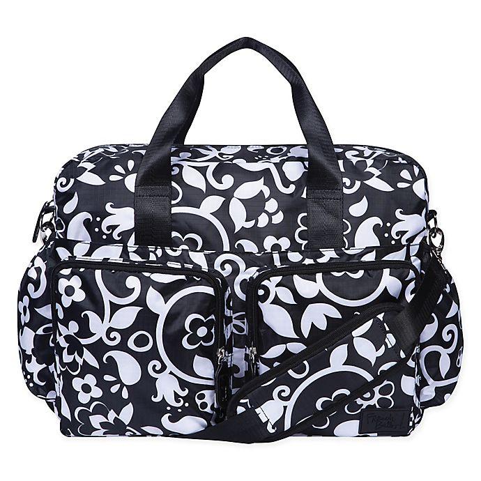 Alternate image 1 for French Bull® Vine Deluxe Duffle Diaper Bag in Black/White