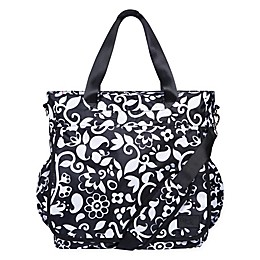 French Bull® Vine Tote Diaper Bag in Black/White