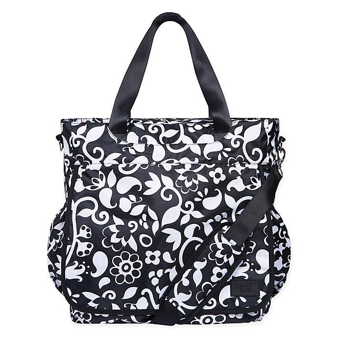 Alternate image 1 for French Bull® Vine Tote Diaper Bag in Black/White