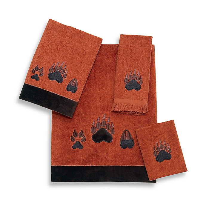 Alternate image 1 for Avanti Paw Print Bath Towel in Copper