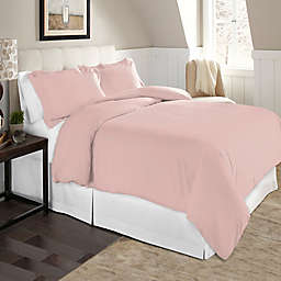 Pointehaven Solid 2-Piece Twin/Twin XL Flannel Duvet Cover Set in Rose Quartz
