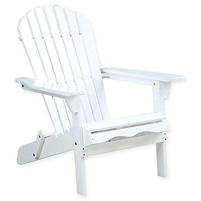 Acacia Wood Adirondack Folding Chair