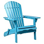 Acacia Wood Adirondack Folding Chair in Teal