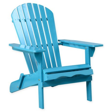 Buy Acacia Wood Adirondack Folding Chair In Teal From Bed