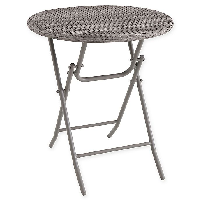 Prime Wicker Folding Bistro Table In Oyster Bed Bath Beyond Cjindustries Chair Design For Home Cjindustriesco