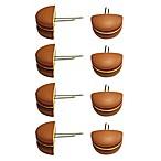 Just Grillin' Hamburger Shape Corn Holders (Set of 8)
