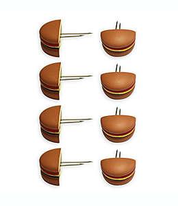 Sujetadores para elotes con forma de hamburguesa, Just Grillin' Set de 8