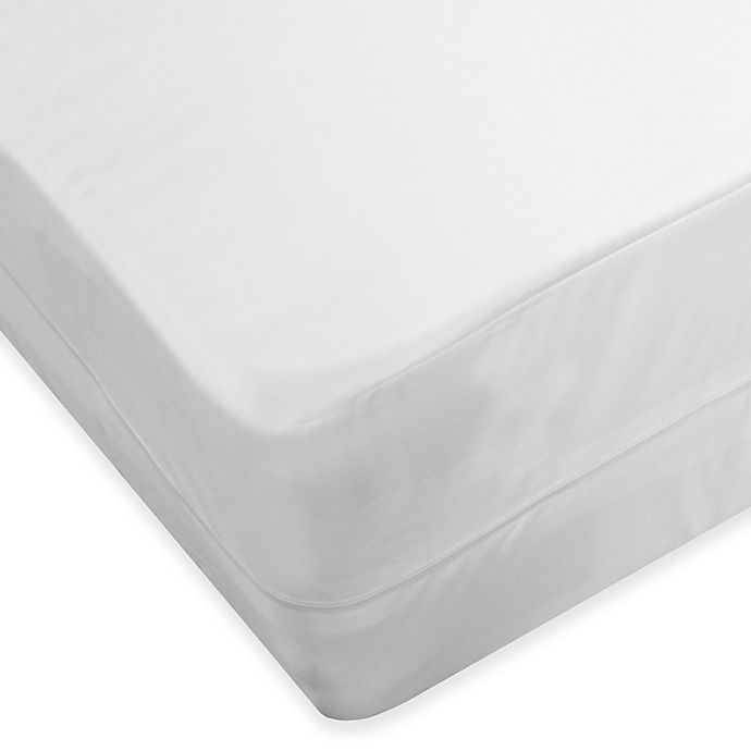 Alternate image 1 for Protect-A-Bed® AllerZip® Smooth Twin Mattress Encasement