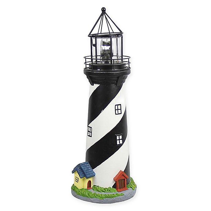 Alternate image 1 for Solar Lighthouse with Rotating Light