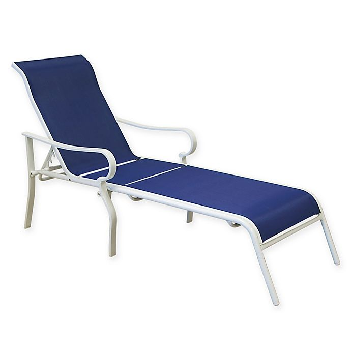 Super Never Rust Summerwinds Aluminum Sling Chaise Lounge In Blue Cjindustries Chair Design For Home Cjindustriesco