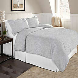 Pointehaven Solid 2-Piece Twin/Twin XL Flannel Duvet Cover Set in Heather Grey